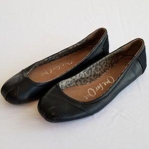 TOMS Women's leather ballet flats shoes sz 8